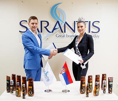07.02.2019 - Sarantis potpisao ugovor sa Miss Srbije