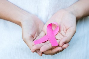 October,Breast,Cancer,Awareness,Month,,Adult,Woman,Hand,Holding,Pink